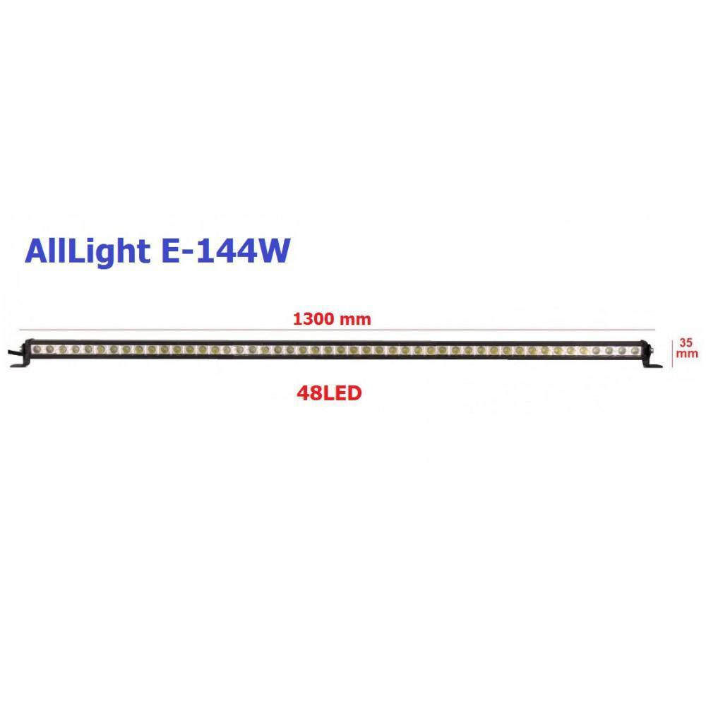 Светодиодная фара AllLight E-144W однорядная 48chip OSRAM 3535 9-30V