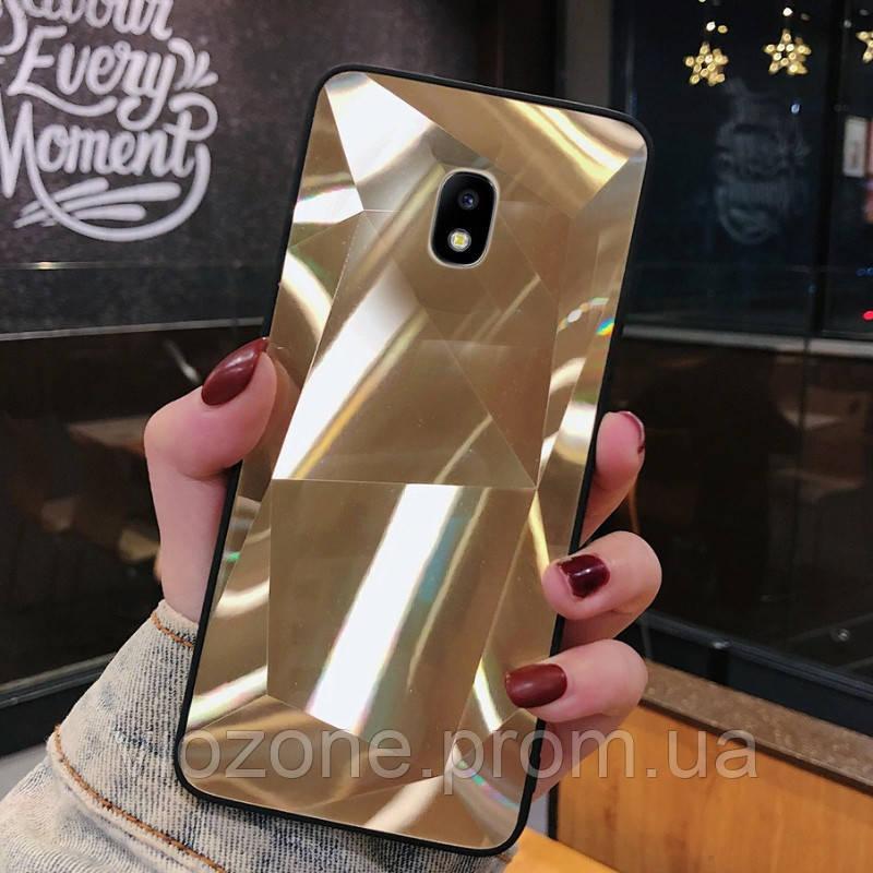 3D Зеркальный Чехол/Бампер для Samsung Galaxy J7 2017 / J730, Золотой