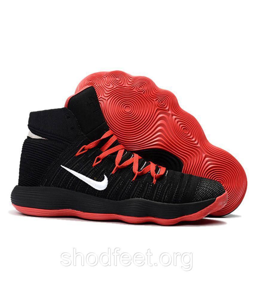 Подростковые баскетбольные кроссовки Nike Hyperdunk 2017 Flyknit Black Red