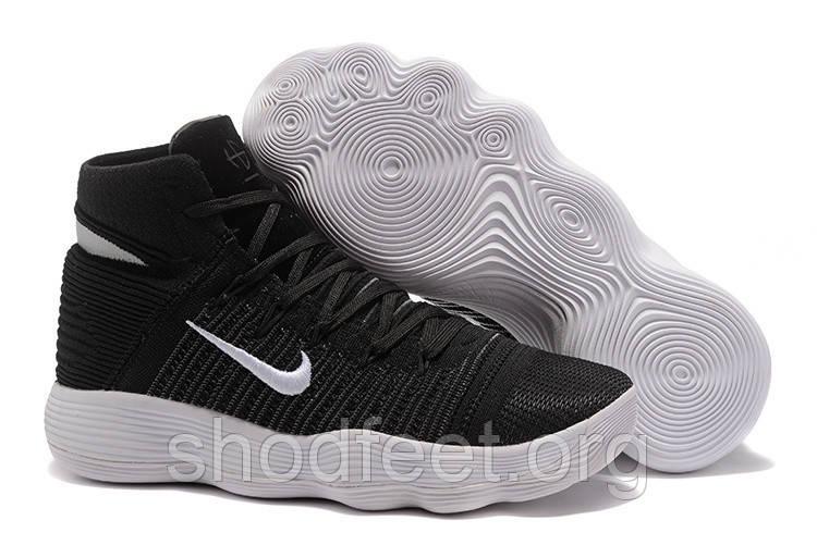 Подростковые баскетбольные кроссовки Nike Hyperdunk 2017 Flyknit Black White