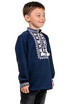 Детская сорочка-вышиванка Орнамент - темно-синий, фото 2
