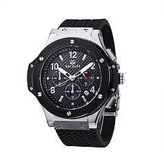 Часы Megir Silver Black MG3002G (MN3002GBK-1)