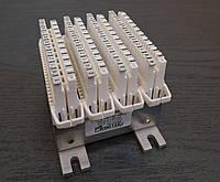 Набор плинтов ZKM 40U1-RZ-VP010 из четырёх 10-парных размыкаемых врезных плинтов уменьшенного размера (Польша), фото 1