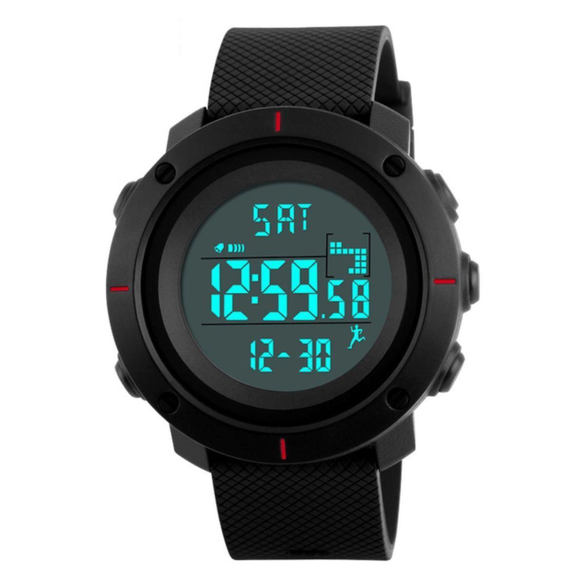 Часы Skmei 1215 BK- Red BOX (1215BOXBKR)