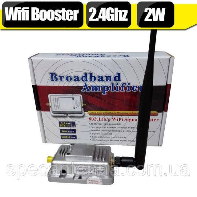 2Вт Wi-Fi репитер усилитель (бустер) 802.11b/g 20 МГц и 40 МГц 2400 МГц - 2500 МГц - фото 1