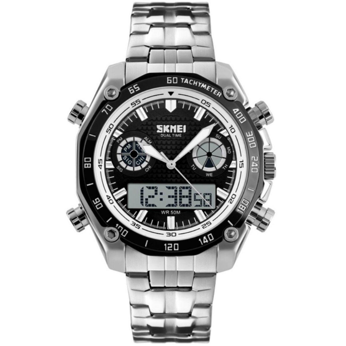 Часы Skmei 1204 Black White Circel BOX (1204BOXBKWHC)