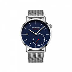 Часы Guanqin Silver/Blue GS19083 CS (GS19083SBlS)