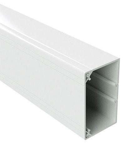 150x80 Короб із кришкою з направляючими, довжина 2м, білий RAL9001 ДКС [1792] ТА-GN
