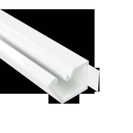10х10 Мініканал самоклеючий, довжина 2м, білий RAL 9016 ДКС [301] TMR