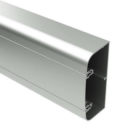 Алюмінієвий кабель-канал 90х50мм (з 1 кришкою), колір сріблястий [9599]
