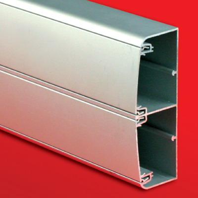 Алюмінієвий кабель-канал 140х50 (з 2 кришками), колір сріблястий [1499]