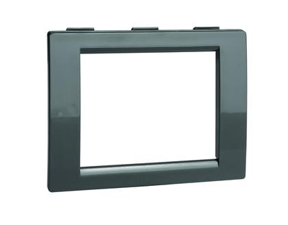 Рамка универсальная на 2 модуля, цвет чёрный