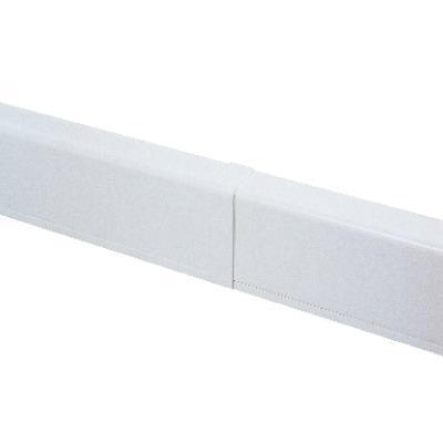 Накладка на стык для плинтусного короба 100х40 мм белое
