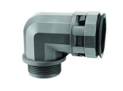 Муфта 90 грд. труба-коробка DN 17 мм, М20х1,5, полиамид, цвет черный
