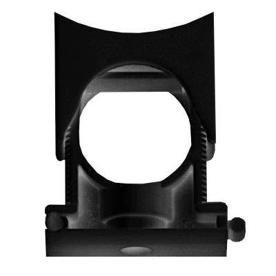 Держатель раздвижной с крышкой DN 29-36 мм, полиамид, цвет чёрный