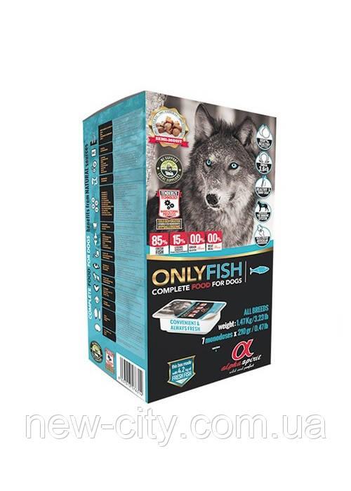 Alpha Spirit Only Fish (Альфа Спирит) полувлажный беззерновой корм для собак всех пород (рыба) 1.5 кг