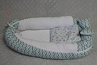 Кокон - позиционер Laguna утепленный плюшем Minky + подушка