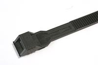 115х6 мм, Хомут з плоским замком морозостійкий, чорний, поліамід 12 [26449]