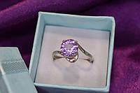 Серебряное кольцо с аметистом 925 проба