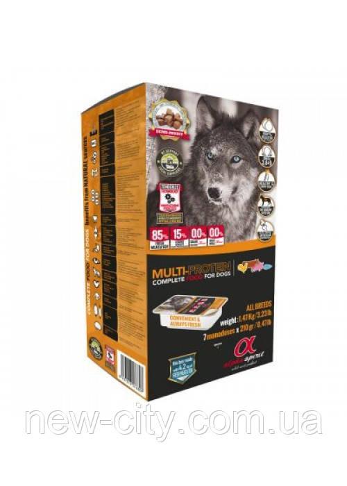Alpha Spirit Multiprotein (Альфа Спирит) полувлажный беззерновой корм для собак всех пород и возрастов 210г