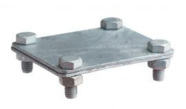 З'єднувач полоса-полоса, 80х70мм, сталь гарячого цинкування [NG3125]