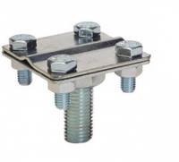 З'єднувач стрижня М16 та полоси 30x4або дроту d8-10мм, сталь оцинкована [NG6606ZC]