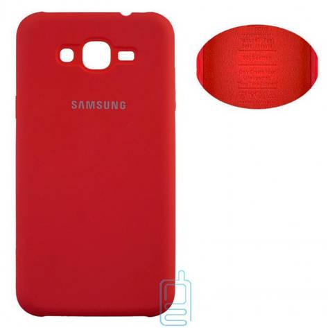 Чехол Silicone Cover Samsung J3 2016 J310. J320 красный, фото 2