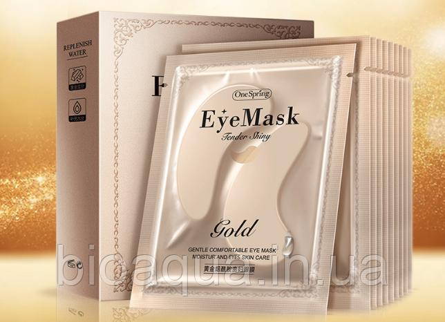Патчи One Spring Gold Collagen Moisturizing Eye Mask 7.5 g