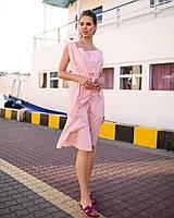 Платье женское короткое из коттона на пуговицах (К28277), фото 1