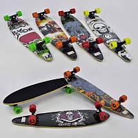 Скейт-лонгборд С 32027 (6) 6 видов, подшипник АВЕС-9, колёса PU, d=6.5см
