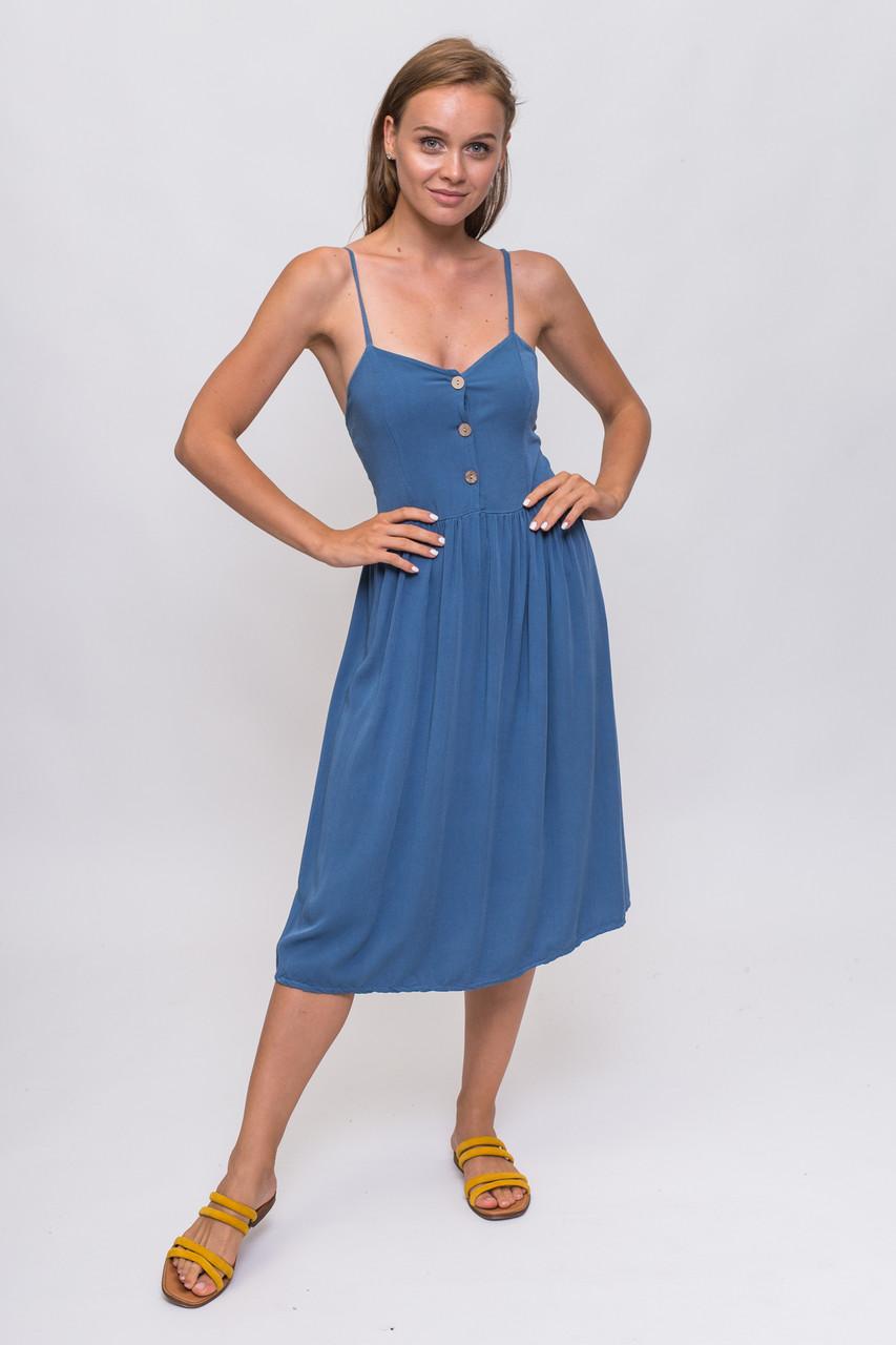 Легкий летний сарафан LUREX - синий цвет, L (есть размеры)