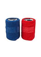 Самофиксирующая пов'язка (бинт когезивный)-(2шт) Sensiplast 6х300см Синій, Червоний