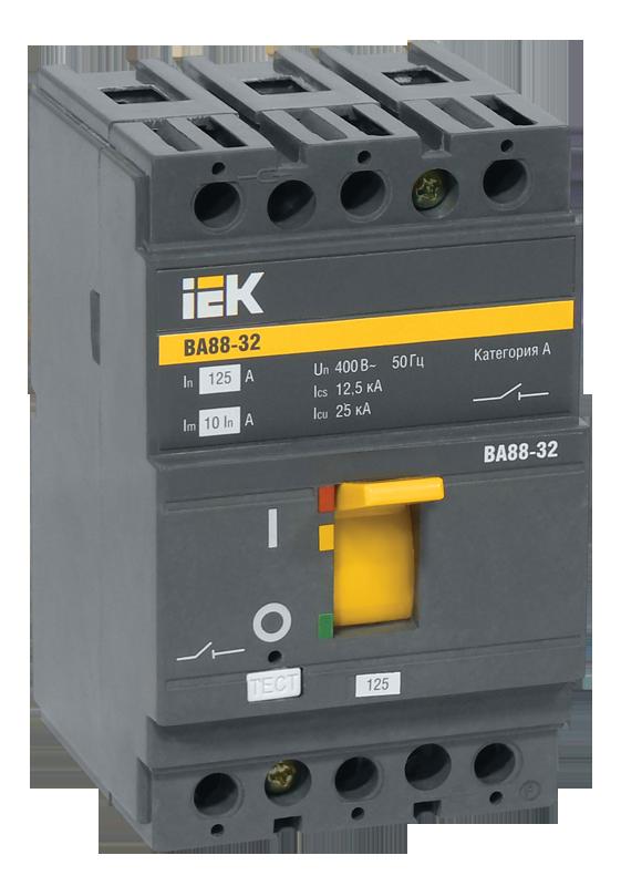 Автоматичний вимикач ВА88-32 3Р 32А 25кА ИЕК [SVA10-3-0032]