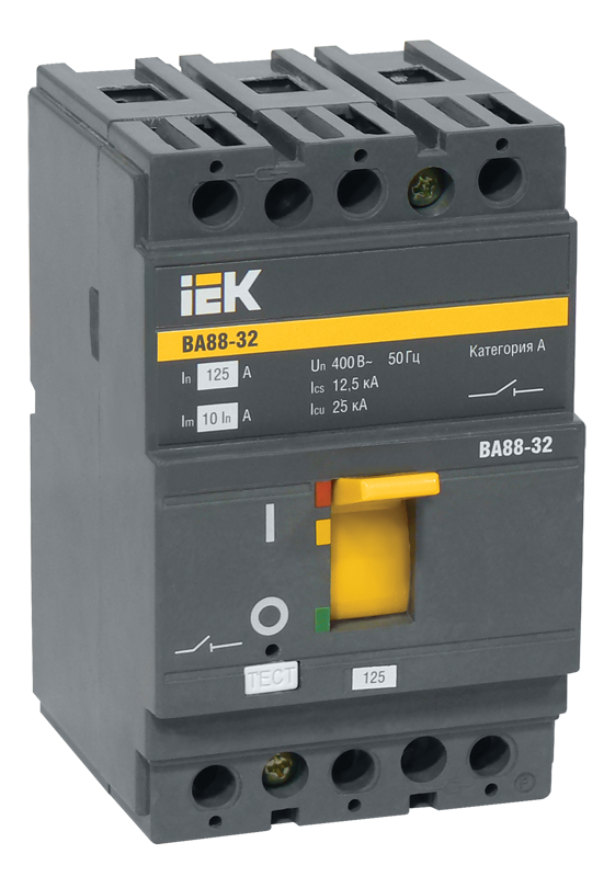 Автоматичний вимикач ВА88-32 3Р 63А 25кА ИЕК [SVA10-3-0063]