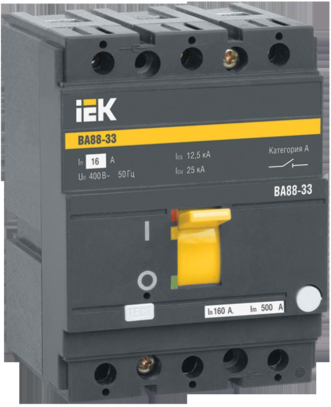 Автоматичний вимикач ВА88-33 3Р 125А 35кА IEK