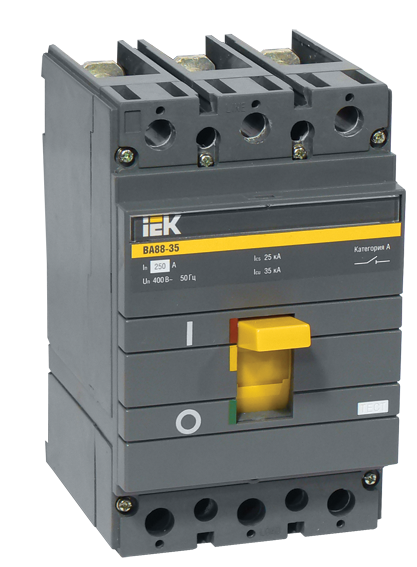 Автоматичний вимикач ВА88-35 3Р 80А 35кА IEK