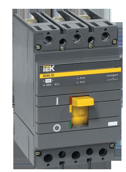 Автоматичний вимикач ВА88-35 3Р 125А 35кА ИЕК [SVA30-3-0125]
