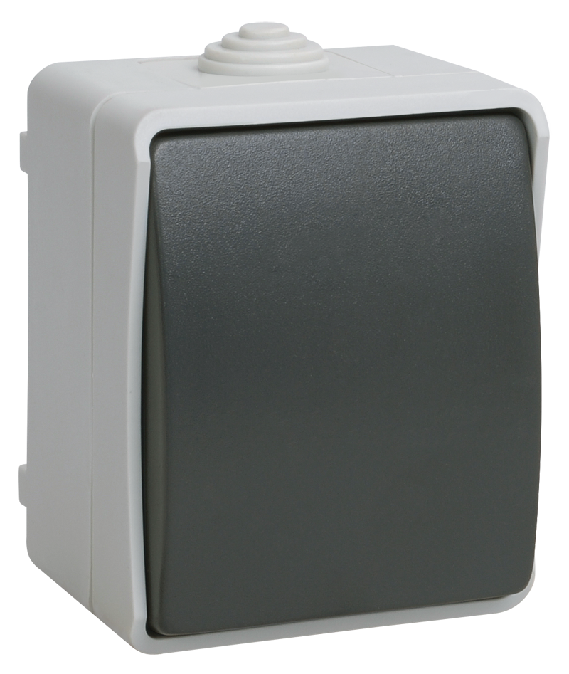 Выключатель 1-клавишный для открытой установки ВС20-1-0-ФСр ФОРС IP54 ІЕК [EVS10-K03-10-54-DC] ИЕК