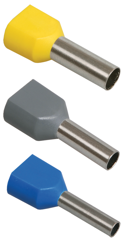 Наконечник-гильза НГИ2 2,5-10 (фиолетовый) (20шт) ІЕК [UTE10-4-D3-2-100] ИЕК