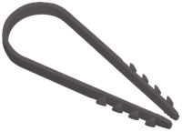 Дюбель-хомут 19-25мм нейлон чорний (100шт) ІЕК [UHH36-19-25-100]