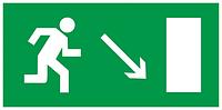 """Самоклеюча етикетка 200х100мм """"Напрямок до евакуаційного виходу праворуч вниз"""" ІЕК [YPC30-2010NEV-NAPRVN]"""