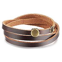 Кожаный браслет мужской тройной, фото 1