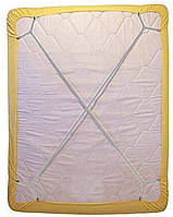 Фиксатор - держатель для простыни постельного белья PlumHOME длинный универсальный 2 шт Белый