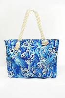 Пляжная сумка с ярким рисунком и ручками из каната