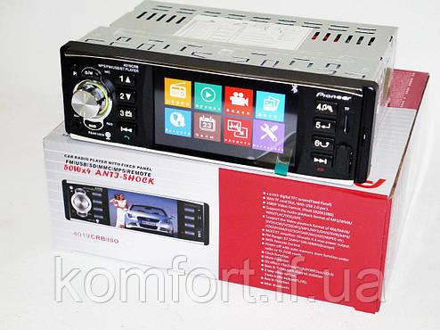 "Автомагнитола 4019 с экраном 4.1"" и Bluetooth, фото 2"