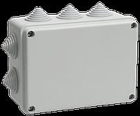 Коробка распаячная КМ41242 для о/п 150х110х70мм IP55 (RAL7035, 10 гермовводов) ІЕК [UKO10-150-110-070-K41-55] ИЕК
