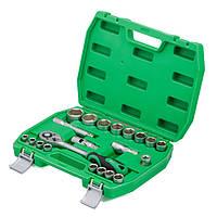"""Набір інструментів 1/2"""", 21 одиниць, Cr-V, Intertool ET-6021SP"""