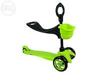 Самокат-беговел с сидушкой ScooTer Micro Mini зеленый синий розовый