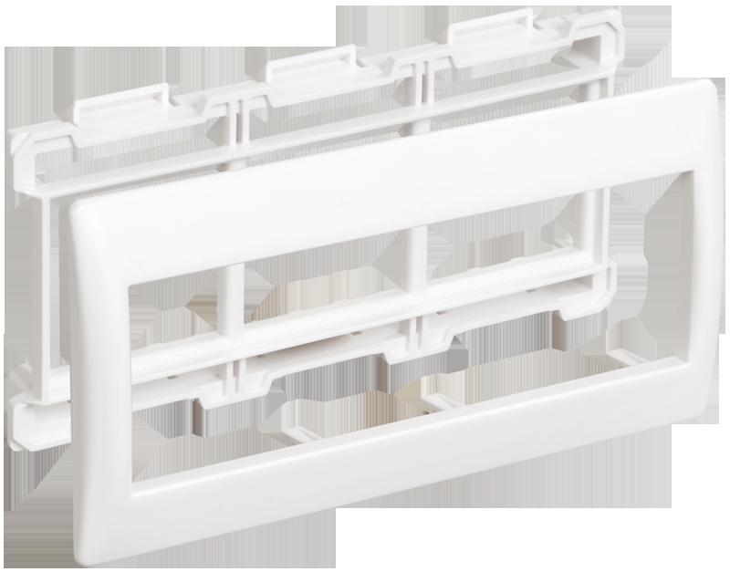 Рамка и суппорт для кабель-канала Пpaймep на 6 модулей 75мм белые ІЕК [CKK-40D-RSU6-075-K01] ИЕК