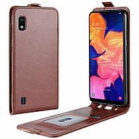 Чехол IETP для Samsung A10 2019 / A105F флип вертикальный PU коричневый